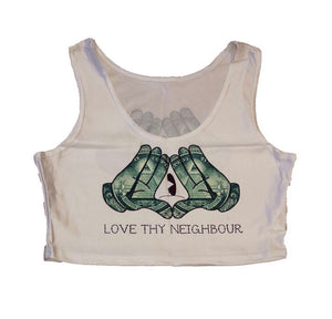 LTN - Illuminati crop top. All seeing eye, new world order. It's all a conspiracy