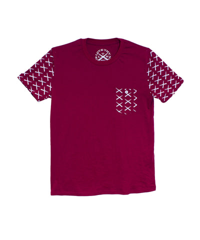 LTN - Pocket t-shirt front with logo pattern print on pocket and sleeves