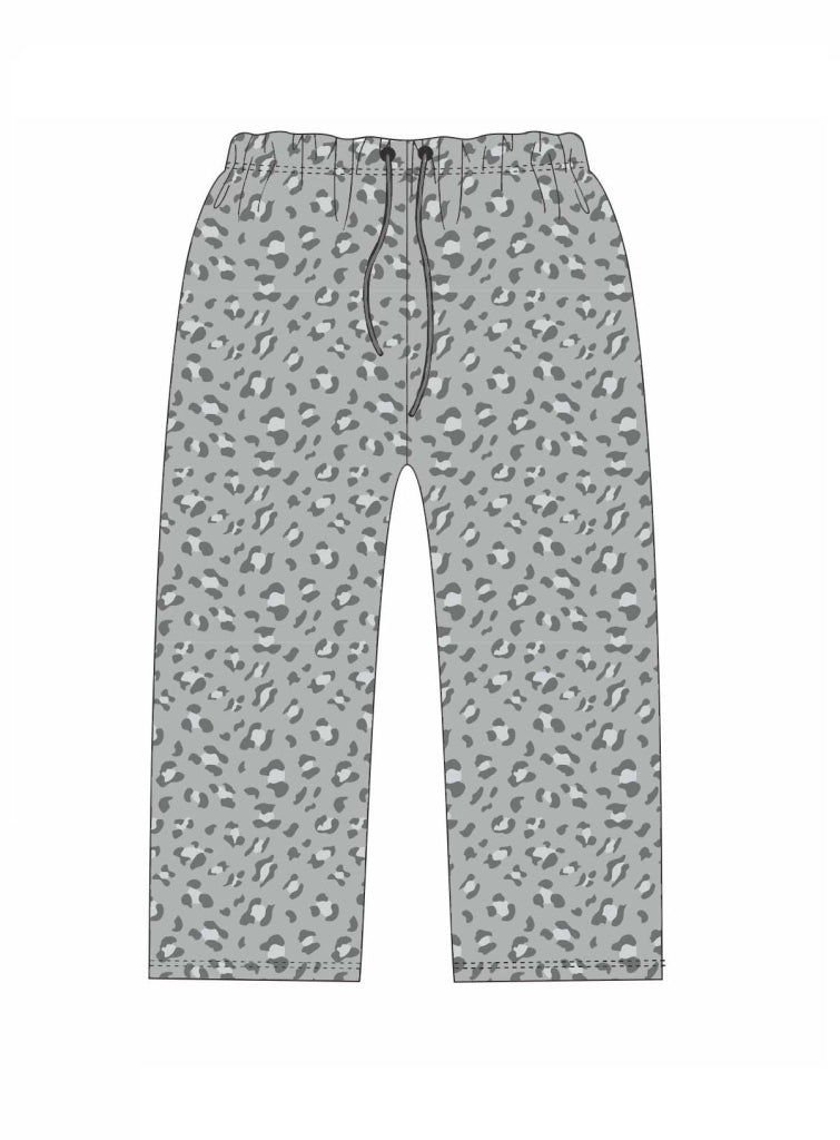 Grey Leopard Pajama Pants