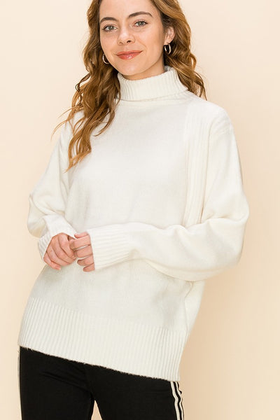 Leslie's Loose Turtleneck Sweater