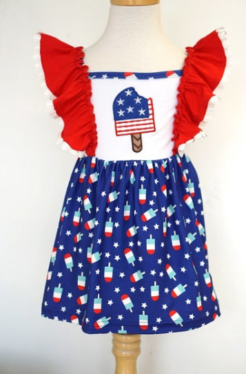 Kids Patriotic Popsicle Dress