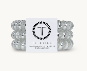 Teleties- Electric Silver-Large