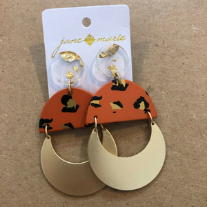 Rust Leopard Leopard Earrings