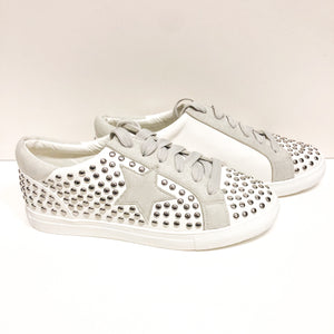 Studded White Sneakers
