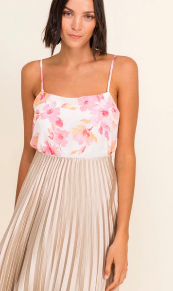 Cream/Blush Floral Top