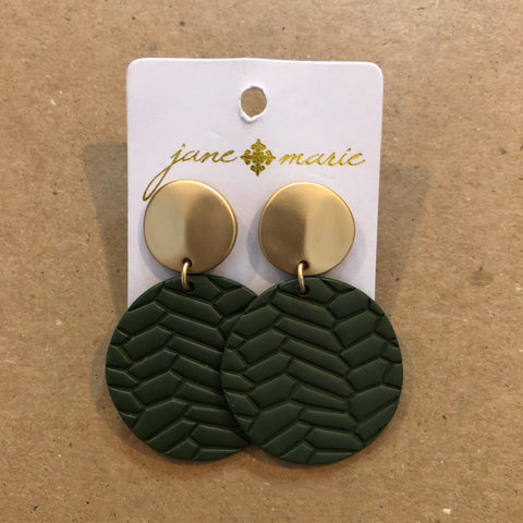 Olive Circle Earrings