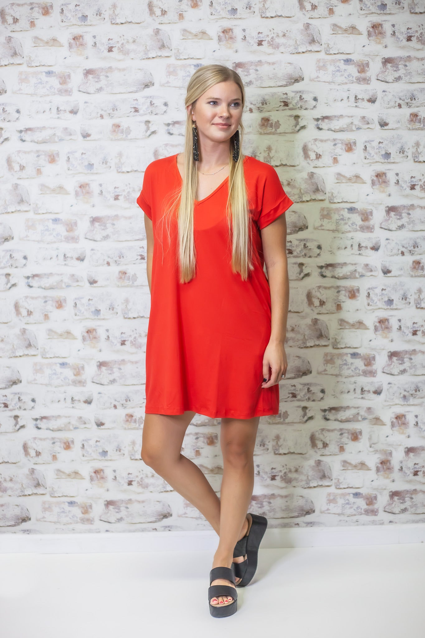 Dancing Through Life Dress - Red