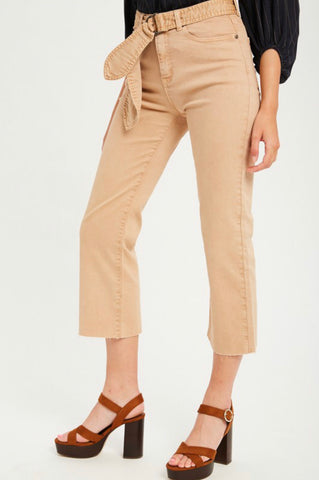 Khaki Cropped Pants