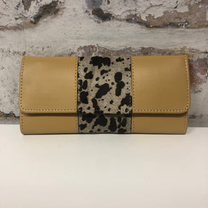 Bria Leather Wallet-Mustard Cow