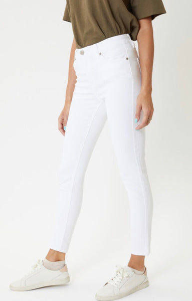 White High Rise Skinny