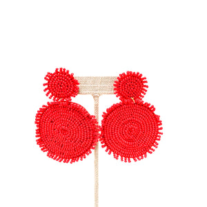 Double Beaded Disc Earring