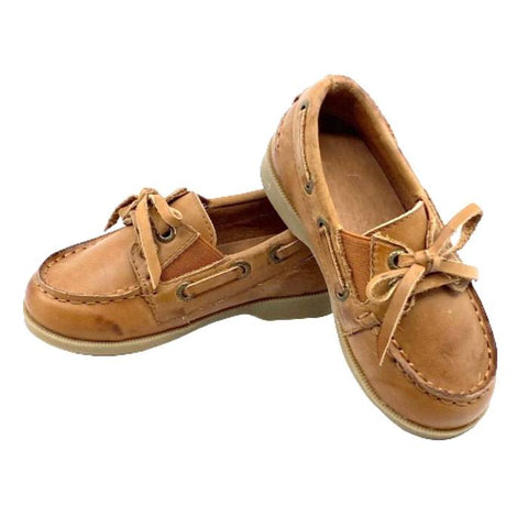 Boys Caramel Boat Shoes