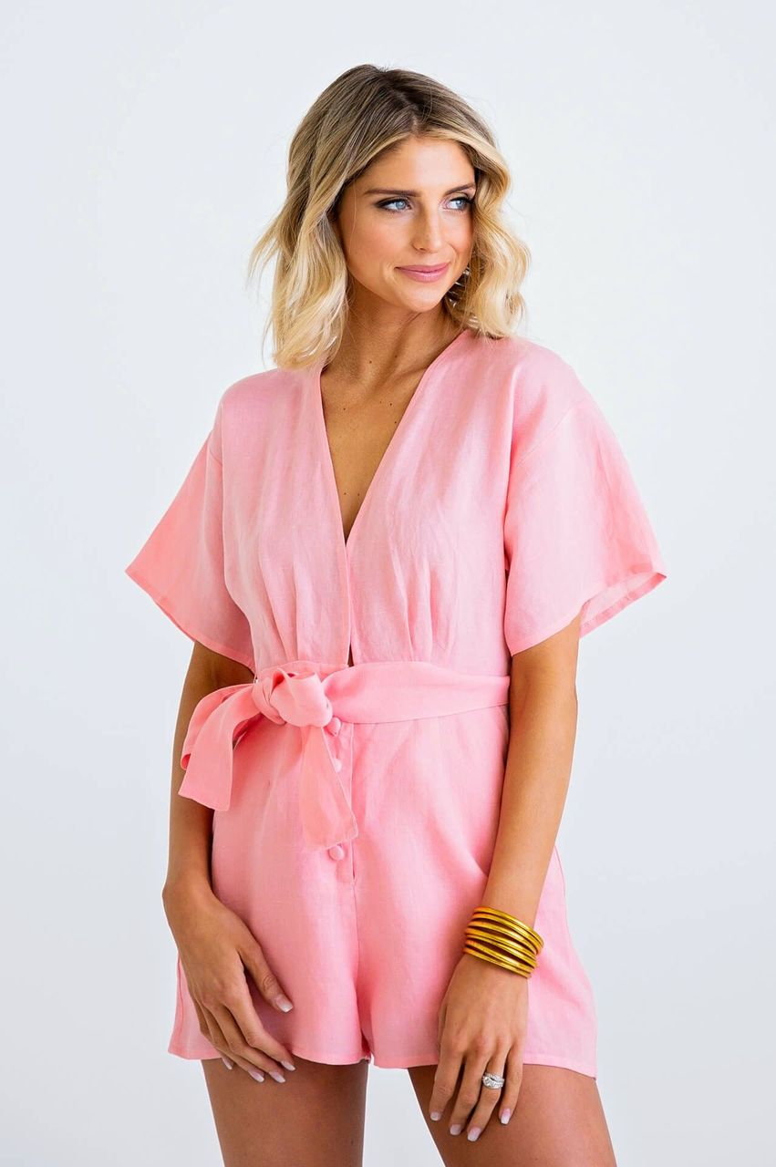 Payson's Pink Romper