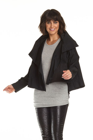 Planet Nylon Asymmetrical Jacket Black_11705425723490