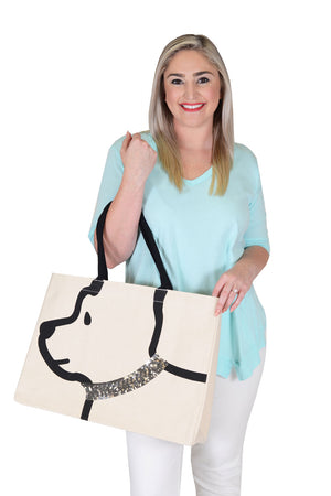 Canvas Dog Tote_9462582935650