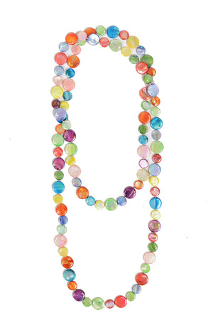 Single Strand Mother Of Pearl Necklace