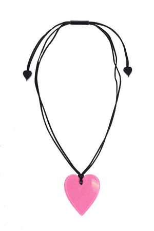 Resin Heart Necklace_9127274807394