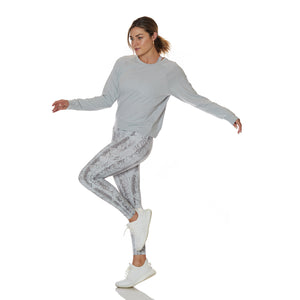Grey Pullover Long Sleeve Light Grey - bodyloveathletica