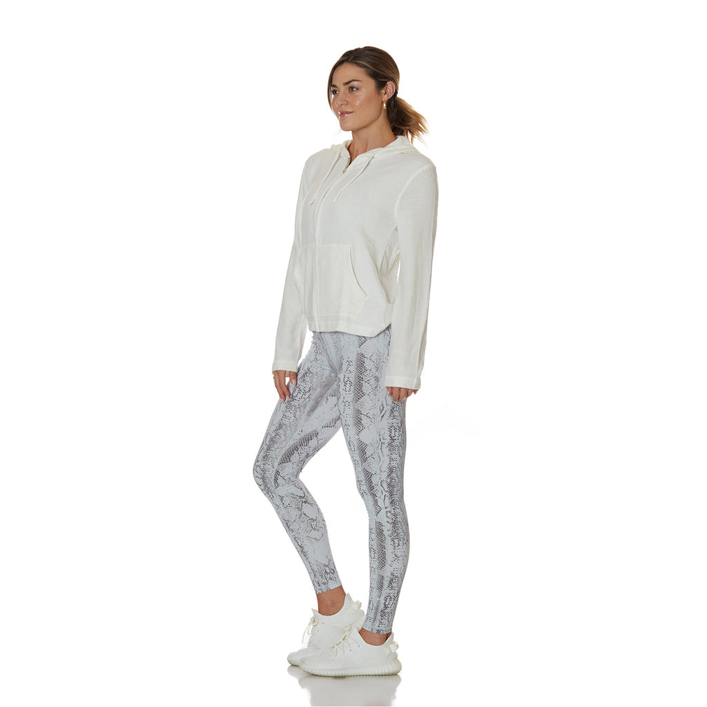 Ivory Extra Soft Zip Up - bodyloveathletica