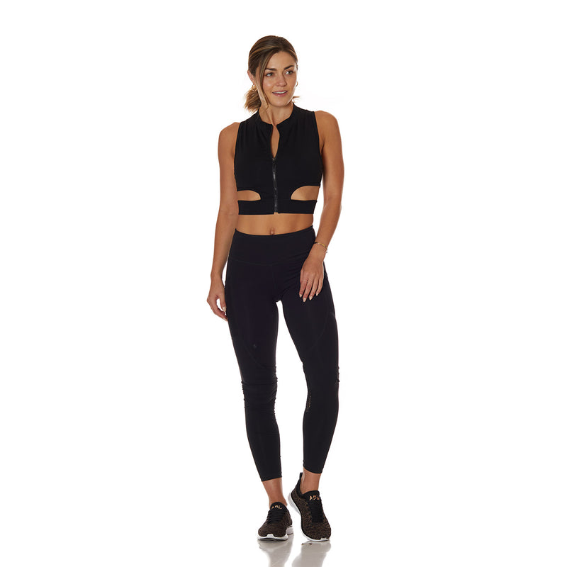 St. Tropez Tank Black - bodyloveathletica