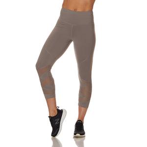 The Vamp Capri Leggings Grey - bodyloveathletica