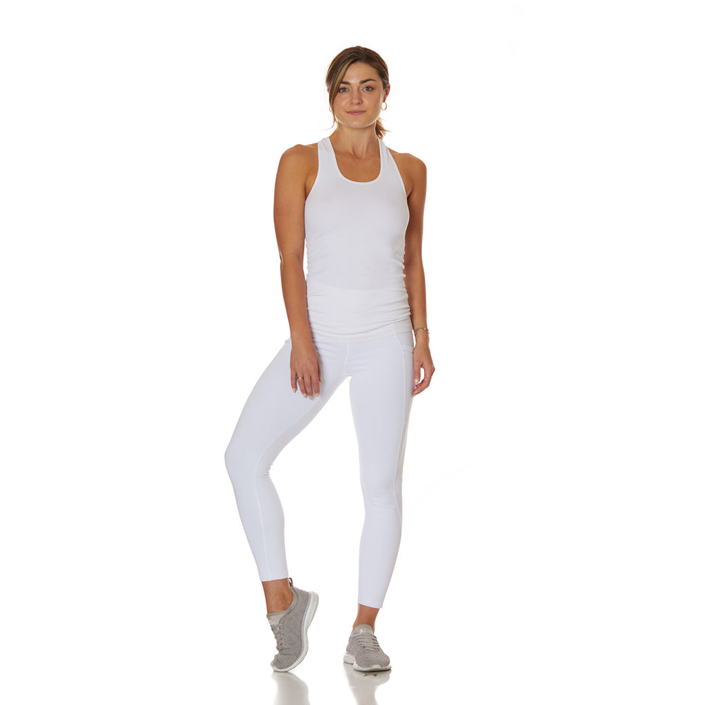 The Vixen Tank White - bodyloveathletica