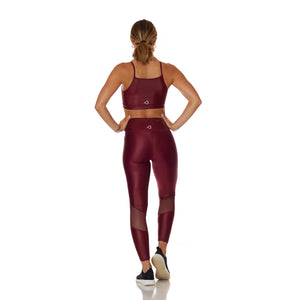 The Vogue Set Leggings Burgundy - bodyloveathletica