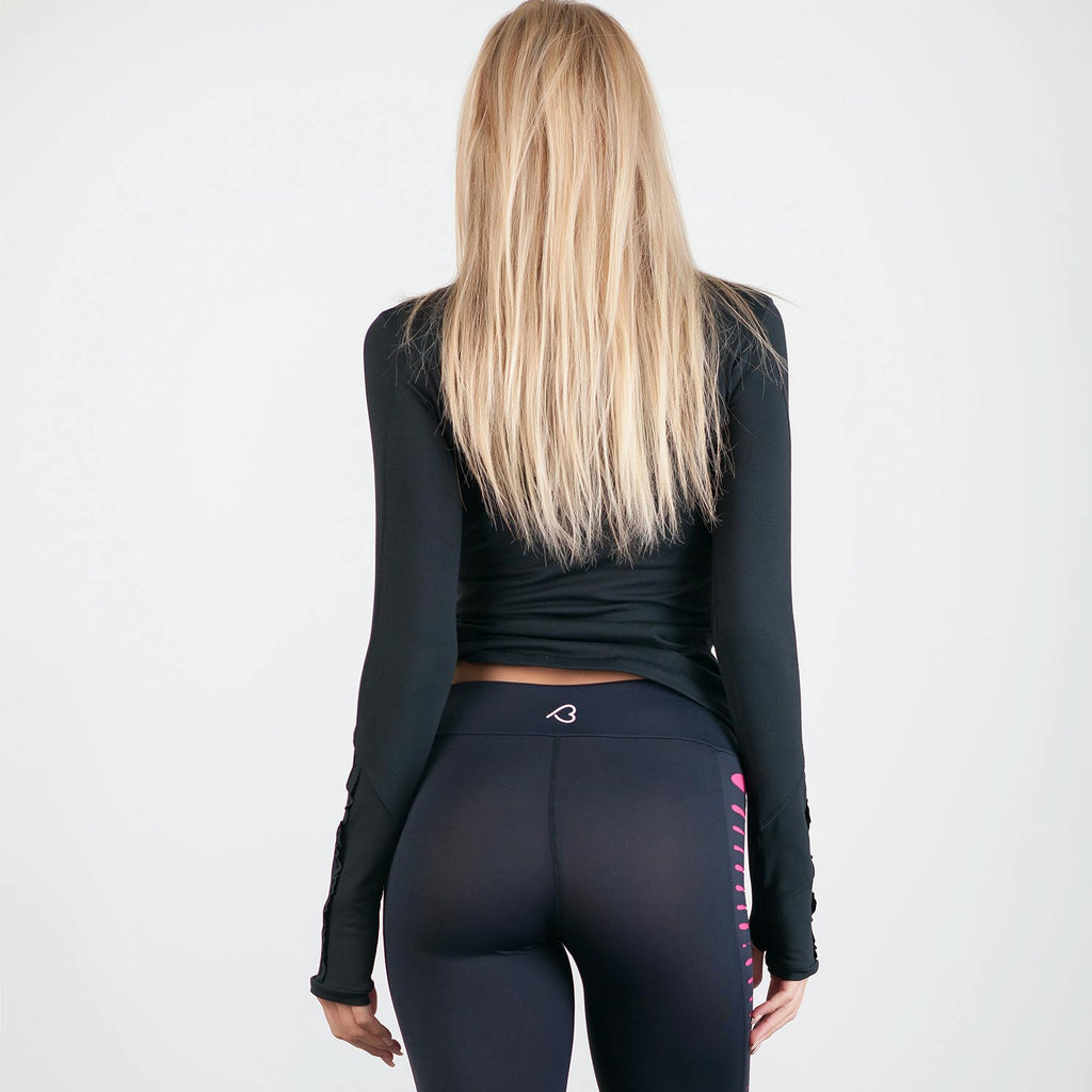 Divergent Long Sleeve Black - bodyloveathletica