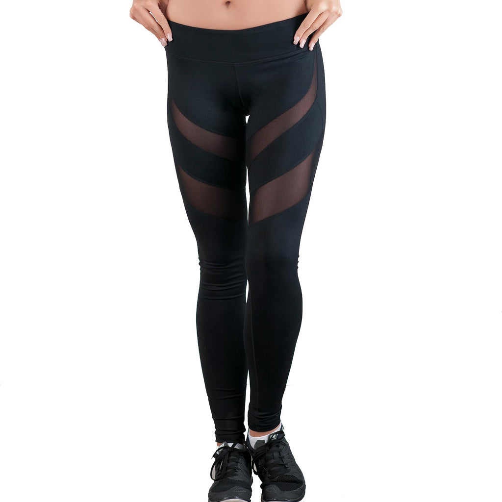 Dare to be Mesh Leggings Black - bodyloveathletica