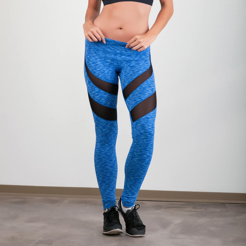 Dare to be Mesh Leggings Space-Dyed Blue - bodyloveathletica