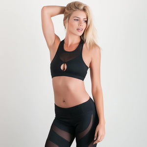 Irresistible Sports Bra Black & Mesh - bodyloveathletica