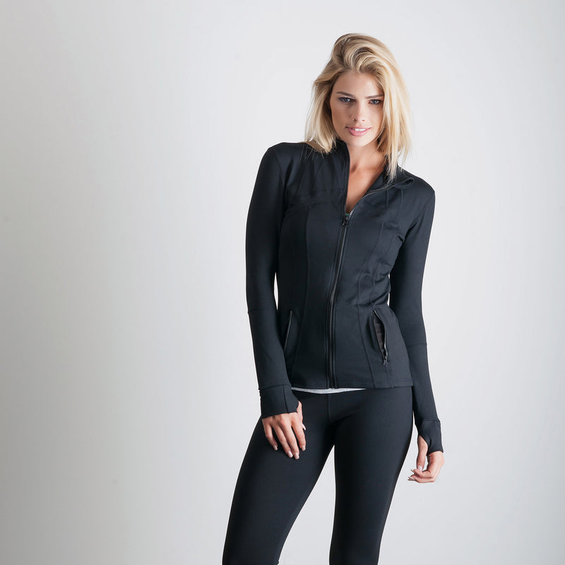 Luxe Jacket Black - bodyloveathletica