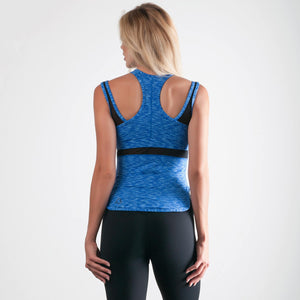 Virtue Tank Space-Dye Blue - bodyloveathletica