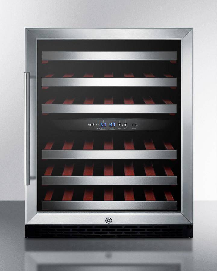 Glass Summit VC60D Integrated Dual-Zone Wine Cellar