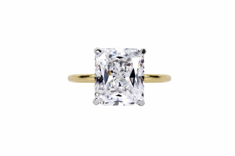 The Asscher Band (2 Carat, Claw Prong)