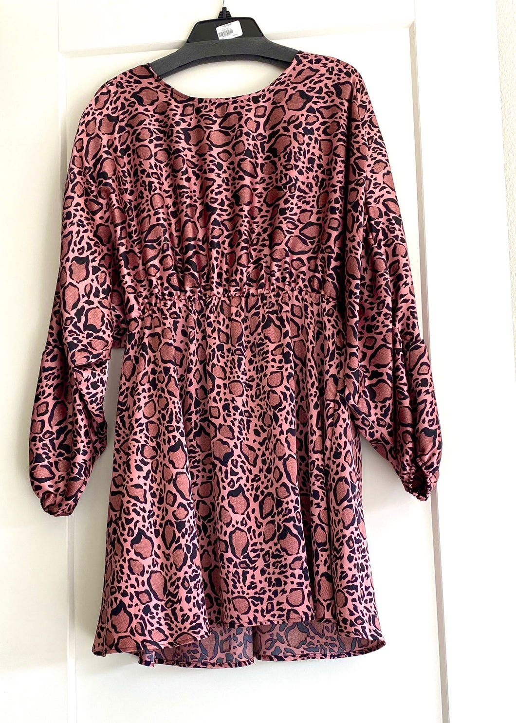 Pink leopard Blouse Dress