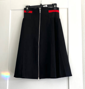 Suede black skirt