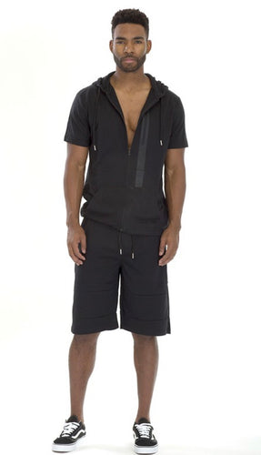 Men's Black Comfort Short Set