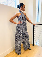 "Load image into Gallery viewer, The Leopard "" Safari "" Wide Leg halter jumpsuit"