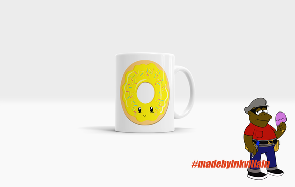 Friendly Yellow Donut Coffee Mug