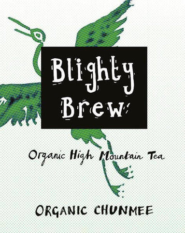 Organic high Mountain tea Chunmee label