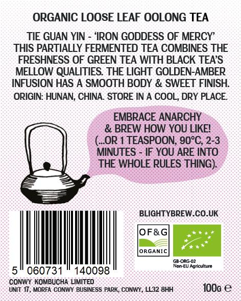 Oolong Tea label