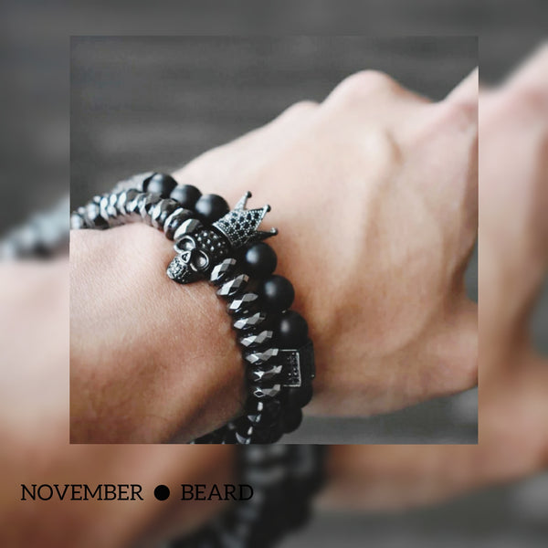 What Makes This Crown and Skull Beard Bracelets As Cool As Your Beard is