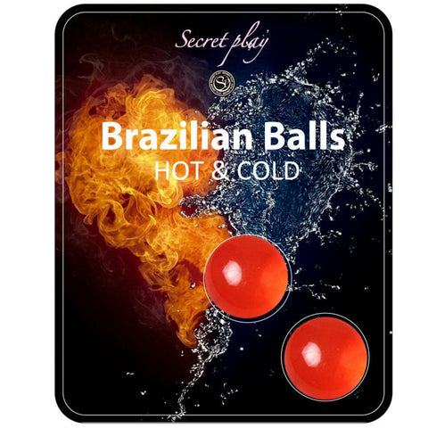 For Couples, Massage Oil - 2 HOT & COLD EFFECT BRAZILIAN BALLS
