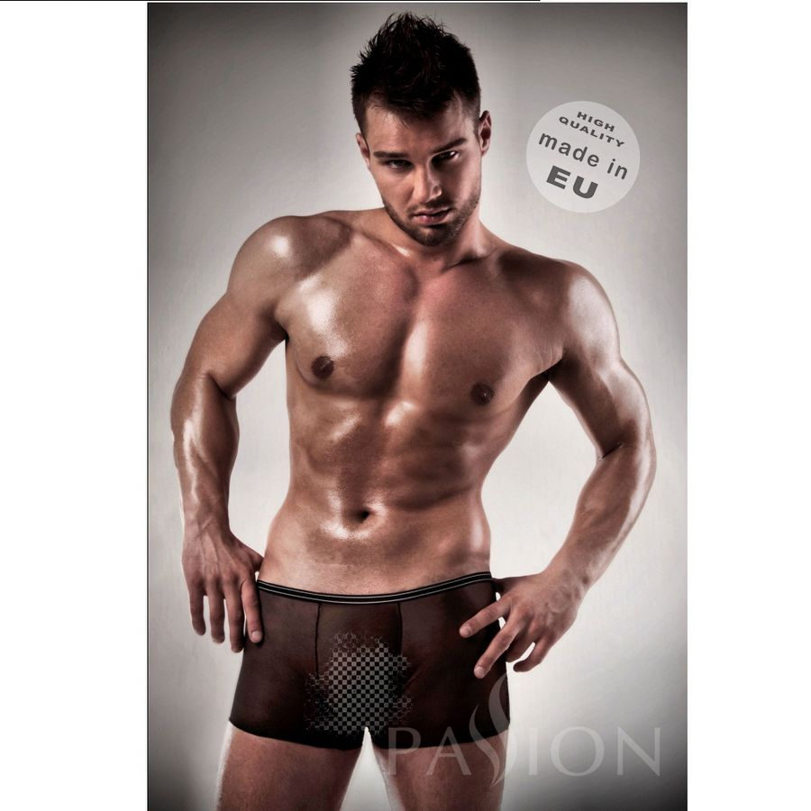 BOXER BLACK CLEAR BY PASSION MEN LINGERIE