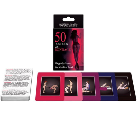 50 POSITIONS OF BONDAGE CARDS ES/EN/DE/FR - Lust4You