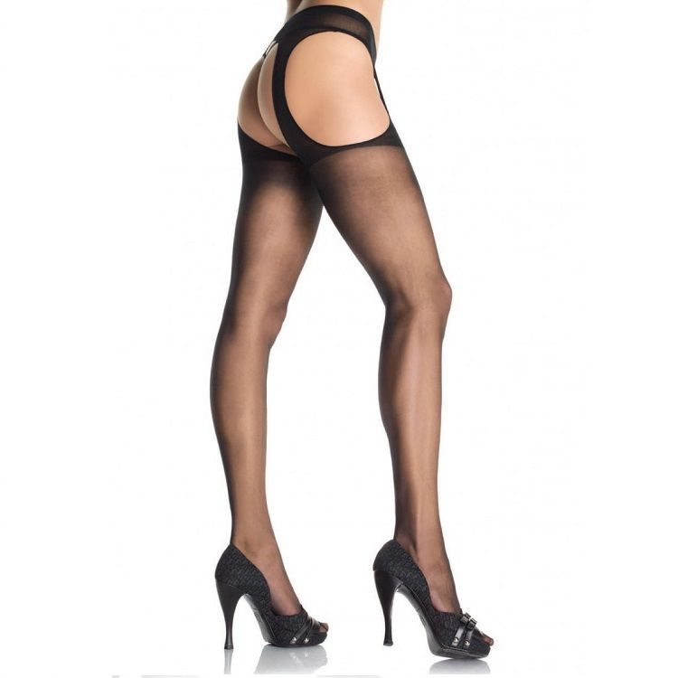 LEG AVENUE PLUS SIZE SUSPENDER PANTYHOSE