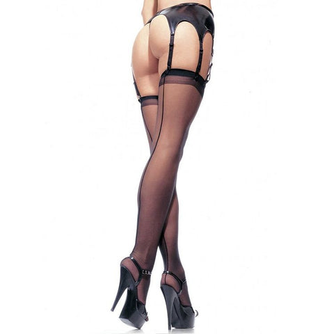 SHEER BACKSEAM STOCKING PLUS SIZE