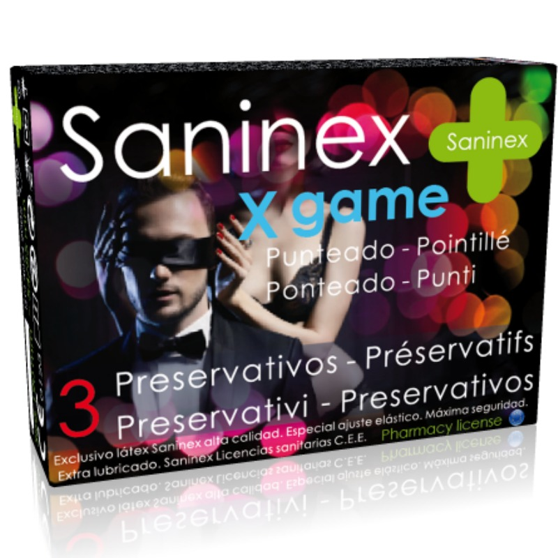 SANINEX CONDOMS X GAME AROMATIC AND DOTTED CONDOMS 3 UNITS