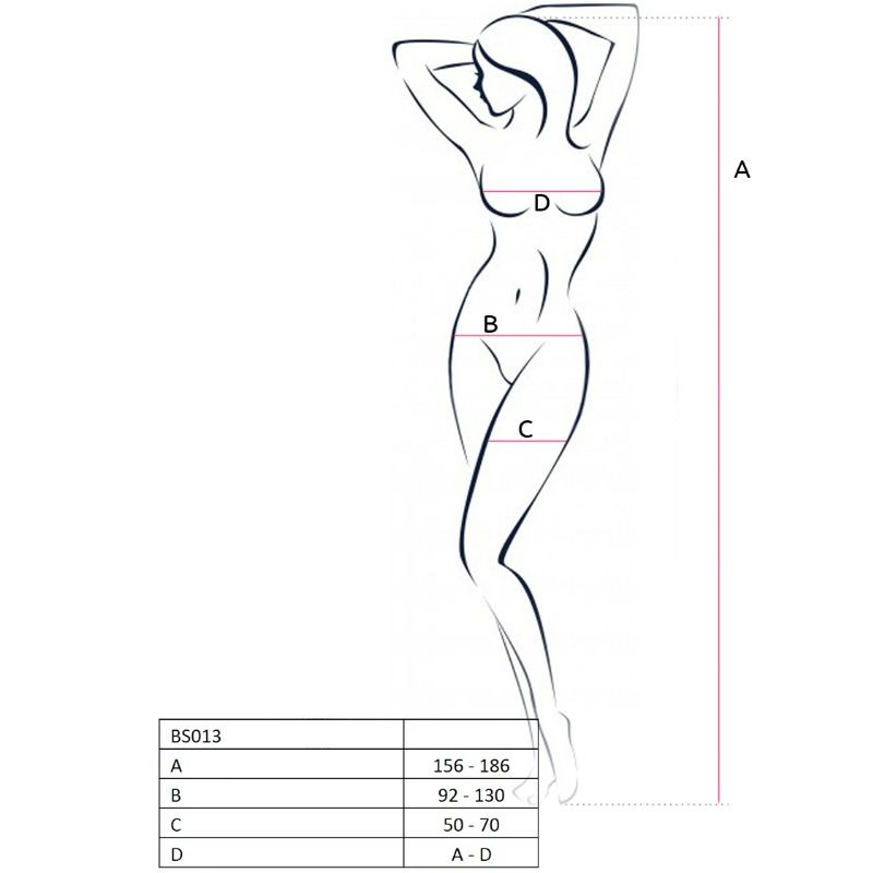 PASSION WOMAN BS013 BODYSTOCKING ONE SIZE